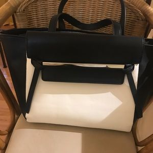 Just Fab Black and white purse